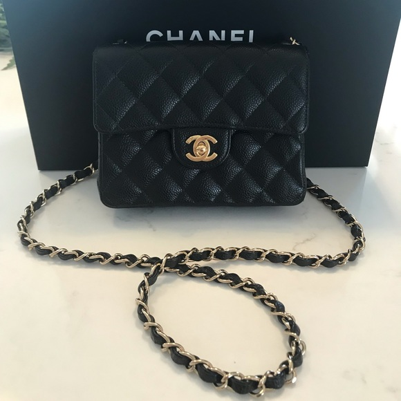 f526eee22d39 CHANEL Handbags - Authentic Chanel Caviar Mini Square Flap Bag